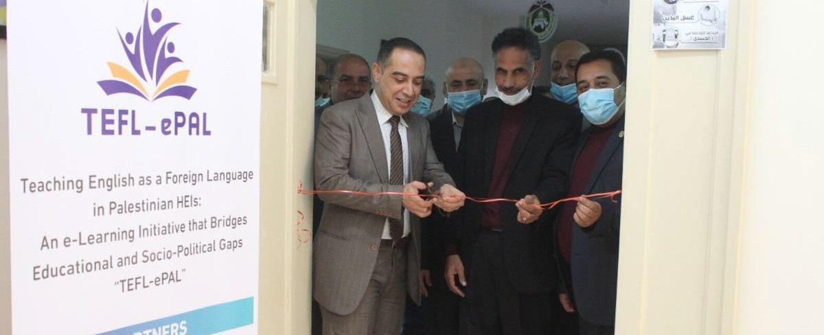 افتتاح مختبر اللغات في فرع غزة بتمويل من مؤسسة أراسموس (+ Erasmus)